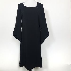 VNTG Harve Benard Black Sheath Dress Bell Sleeves